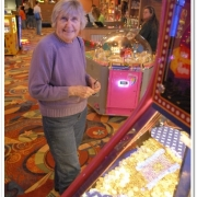 Grandma Playing in Arcade